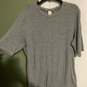Ribbed modest Tee
